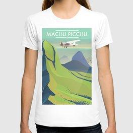 machu picchu travel poster T-shirt