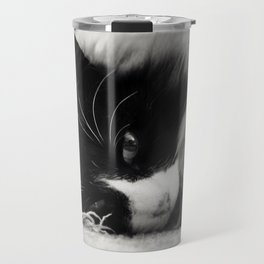 Black and White Cat Travel Mug