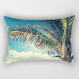 Breezy Beach Palm Rectangular Pillow