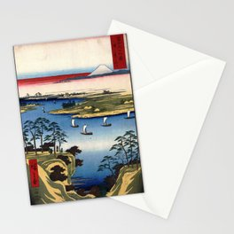 Hiroshige - 36 Views of Mount Fuji (1858) - 11: Wild Goose Hill and the Tone River Stationery Cards