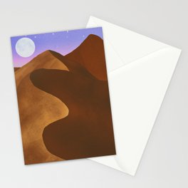 At night in the desert Stationery Cards