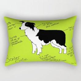 Border Collie Rectangular Pillow