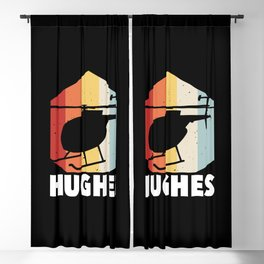 Hughes For Pilots Perfect Ride Flying Chopper Blackout Curtain