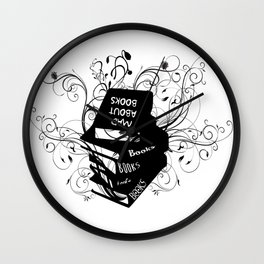 Mad About Books Wall Clock