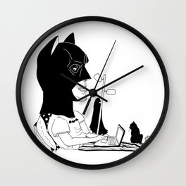 Bat Pjs Wall Clock