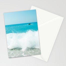 Minimal turquoise ionian wave - Porto Katsiki beach Stationery Cards