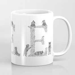 Bearfabet Letter E Coffee Mug