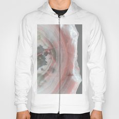 Grey Marble with Pink Hoody