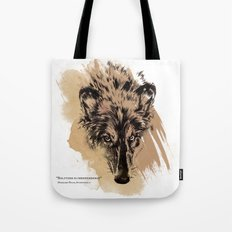 Solitude is independence Tote Bag