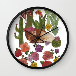 Buffalo Cacti Wall Clock