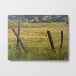 Old Fences Tell a Tale Metal Print