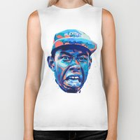 tyler the creator Biker Tanks featuring TYLER THE CREATOR: NEXTGEN RAPPERS by mergedvisible
