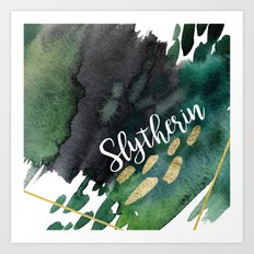 Slytherin Green Art Print