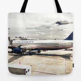 US Aiways Plane at Ronald Reagan Washington National Airport Tote Bag