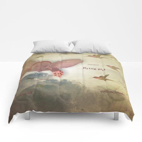 flying girl Comforters