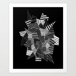 abstract crystal black Art Print