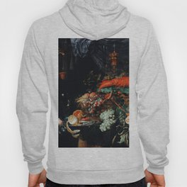Abraham Mignon Fruits and lobster  (1660-1679) Hoody