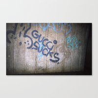 gucci Canvas Prints featuring Gucci by Egle Elle
