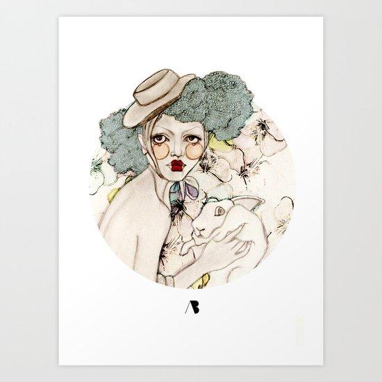 Mr. Rabbit...Wait! Please! Art Print