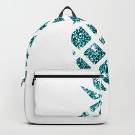 Colorful Pineapples Teal Backpack
