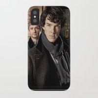 sherlock iPhone & iPod Cases featuring Sherlock  by SB Art Productions