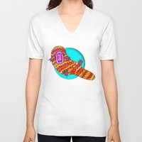 platypus V-neck T-shirts featuring Platypus by Ruth Wels
