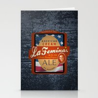 ale giorgini Stationery Cards featuring American Cream Ale by La Femina Brewing Co.