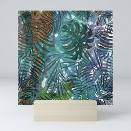 Aloha - Tropical Palm Leaves and Monstera Leaf Garden Mini Art Print