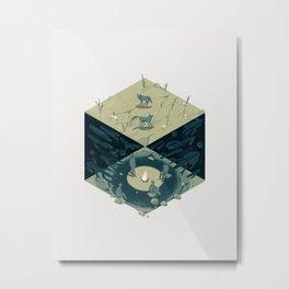 Cube 06 Metal Print