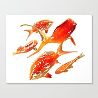 goldfish Canvas Prints featuring Goldfish by Regan's World