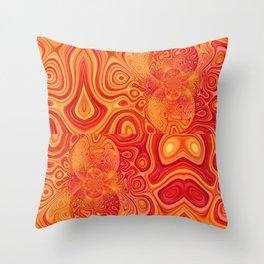 gold solaris Throw Pillow