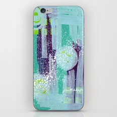 Teal Background iPhone & iPod Skin