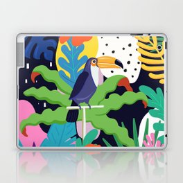Bold Tropical Jungle Abstraction With Toucan Memphis Style Laptop & iPad Skin