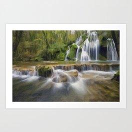 abstract waterfalls Art Print