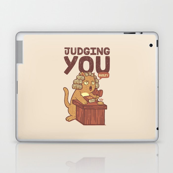 I'm Judging You Cat T-Shirt Laptop & iPad Skin