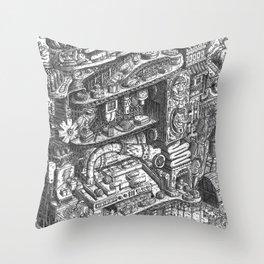Farmer Machinery Throw Pillow