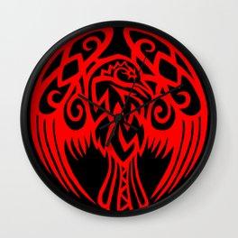 Tribal Raven Wall Clock