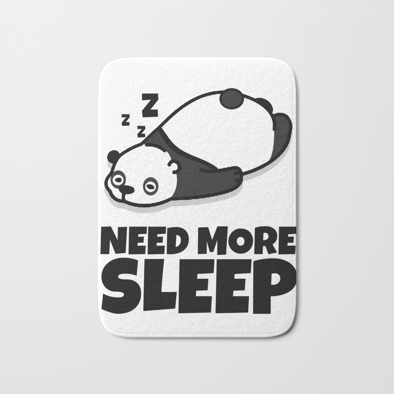 Sleepy Panda Need More Sleep Bear Wildlife Wilderness Lazy Forest Nature  Gift Bath Mat