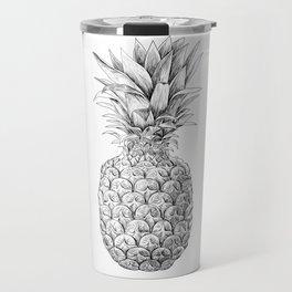 Pineapple, tropical fruit illustration Travel Mug