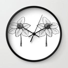 Daffy Daffodil Wall Clock
