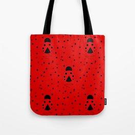 Ladybug Pattern Tote Bag