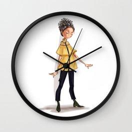 Fashion WhimpsyGirl in yellow . Wall Clock