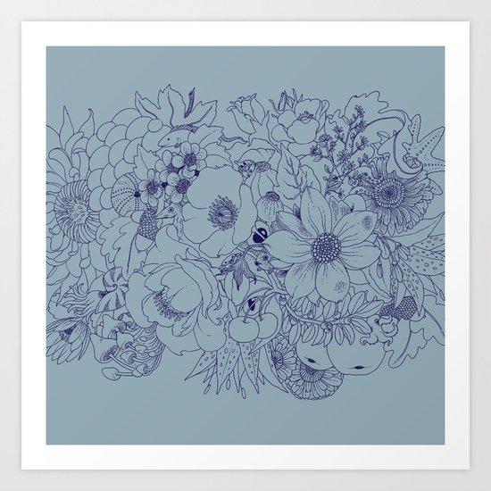 the wild side - monochrome Art Print