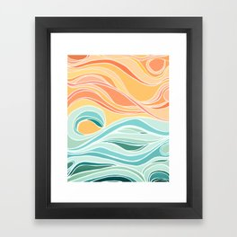 Sea and Sky II / Abstract Landscape Framed Art Print