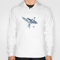 swallow Hoodies featuring Swallow by bethbile
