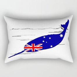 Australian Flag - Narwhal Rectangular Pillow