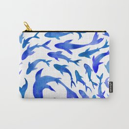 Moving in Unison (Blue and White) Carry-All Pouch