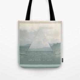 Silver Ocean Tote Bag