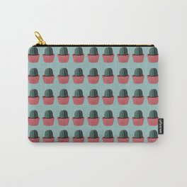 Cactus in Pot Pattern - Gouache Painting Carry-All Pouch