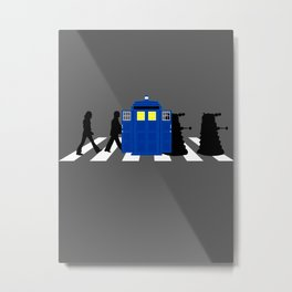 Abbey road daleks Metal Print